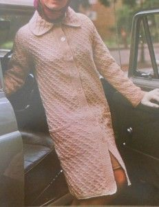 Retro Vintage Style Women's Overcoat Knitting Pattern