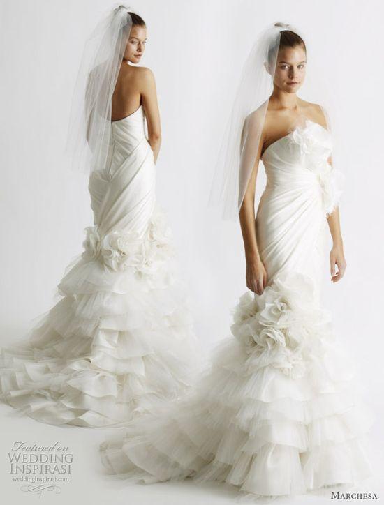 Mermaid style wedding dress by Marchesa