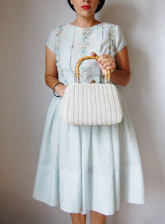 vintage wicker purse