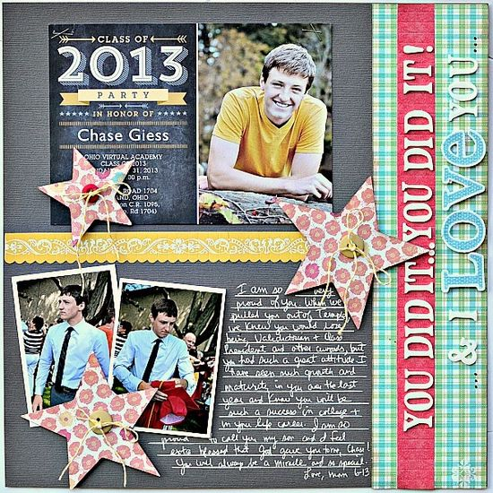 #papercraft #scrapbook #layout You did it! - Scrapbook.com