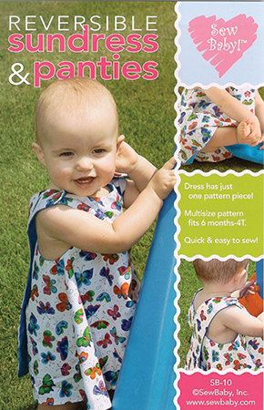 Pattern Reversible Sundress and Panties by GabbysQuiltsNSupply, $9.25