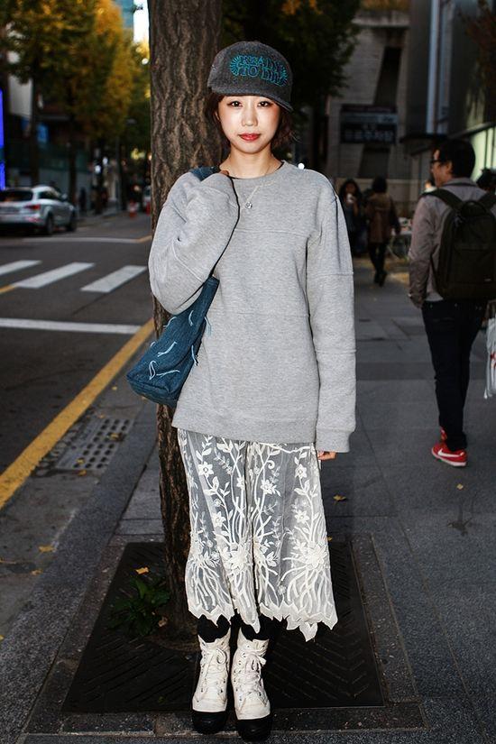 Korean street fashion 2013 #winterlook #girlfashion #cute