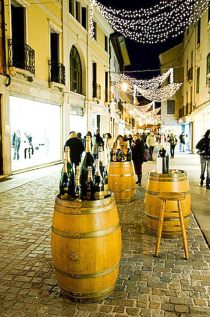 Champagne in Bassano del Grappa, Italy Bassano del Grappa is a city and comune in the region Veneto, in northern Italy