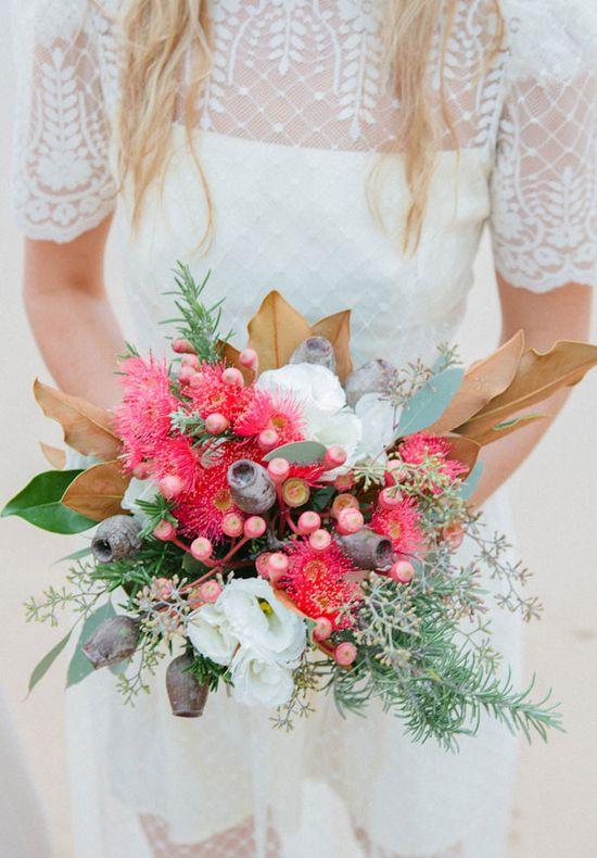 Pink fall bouquet