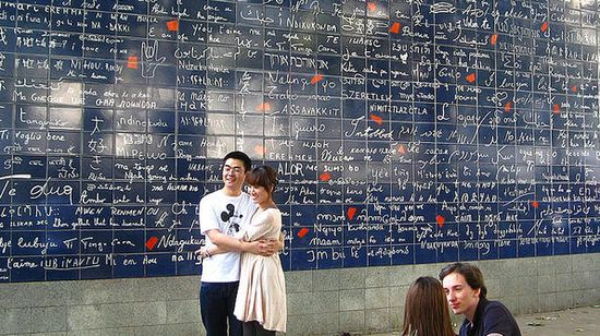 The wall of I Love you's  Paris