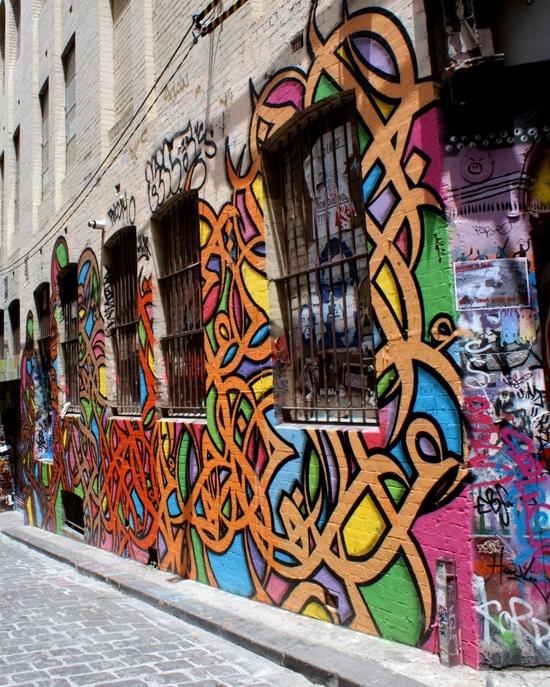 Melbourne Laneways, Graffiti