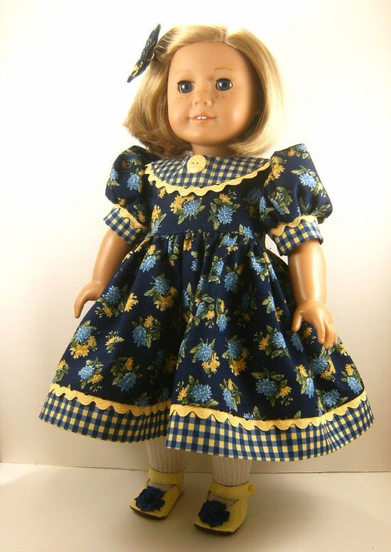 Fits American Girl Doll Clothes 18 Inch Dress by dressurdolly2, $22.00
