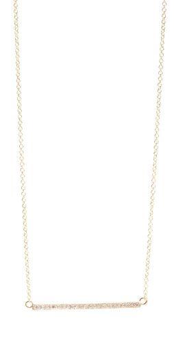 Jewelry 18k Gold Diamond Stick Necklace / Jennifer Meyer