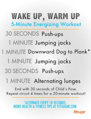 5-Minute Health and Fitness Morning Workout...  Tags: #health #excercise #fitness #sports #diet #healthandfitness #healthy #mensfitness @Mad4Clips #pinterest #love