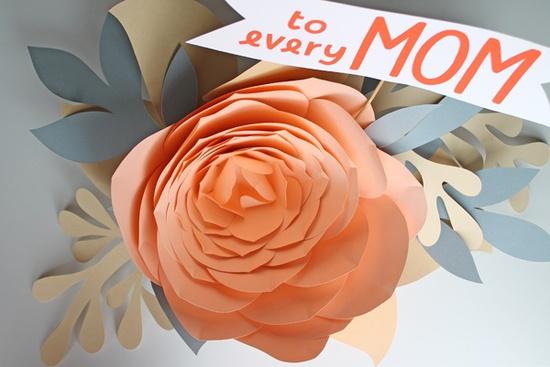 Handmade paper flower for Mother's Day