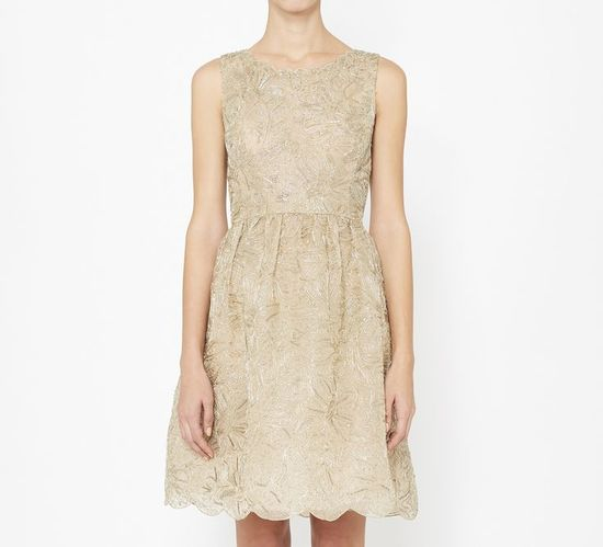 Neutral Lace Party Dress #womensfashion #holiday #party #dress
