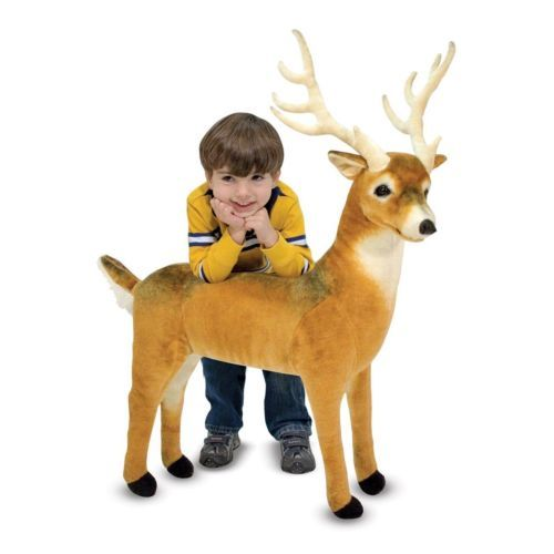 NEW MELISSA & DOUG Plush DEER big Large Soft Stuffed Animal kid toy gift huge ty