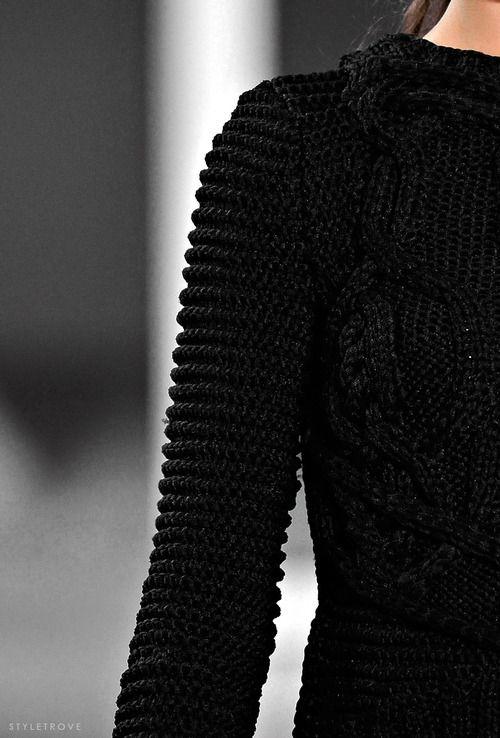 Hyper cable-knit @ Derek Lam.
