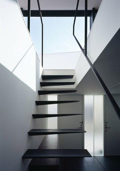 #architecture #design #interior design #stairs #white #minimalism