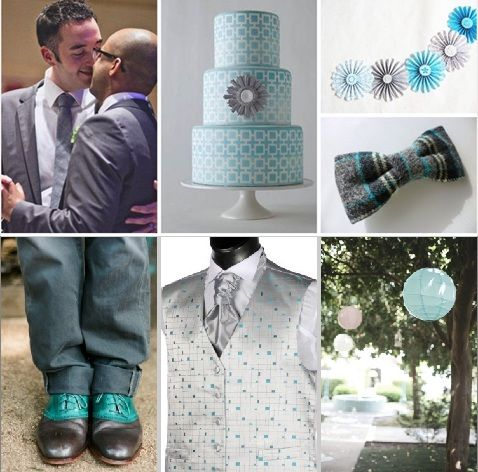 Turquoise + Gray #wedding #colors #turquoise