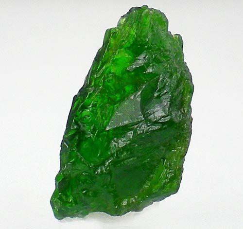Gemmy Green Chrome Diopside Rough Crystal Gemstone