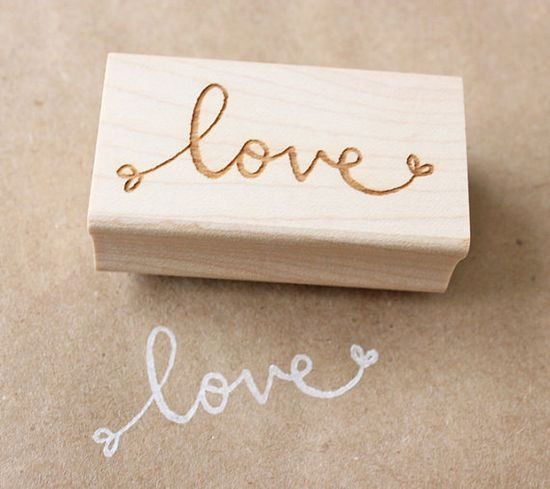 Rubber stamp  #Love