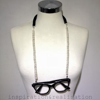 inspiration and realisation: DIY fashion blog: DIY pearls eyewear chain