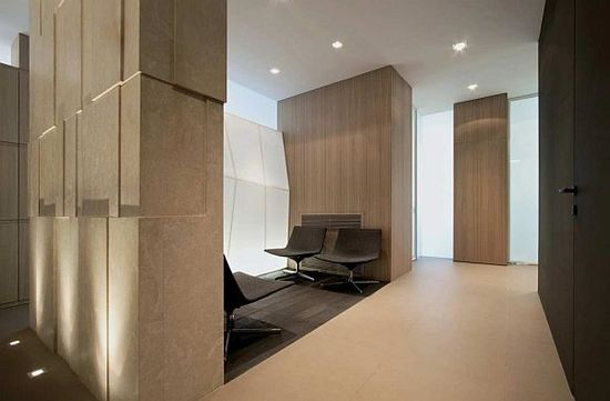 f_a_law_office_design_interior - lining wall with texture