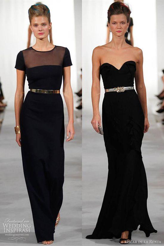 oscar de la renta spring 2013 black gowns red carpet