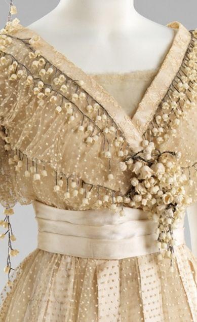 wedding dress detail, 1910