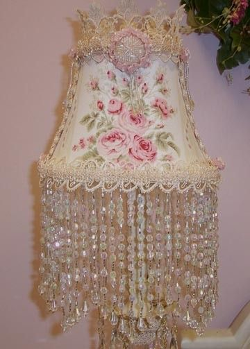 ROMANTIC ROSES CHIC Lampshade Cottage