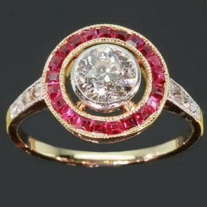 Art Deco ruby diamond ring 1920s Vintage by adinantiquejewellery, $5470.00