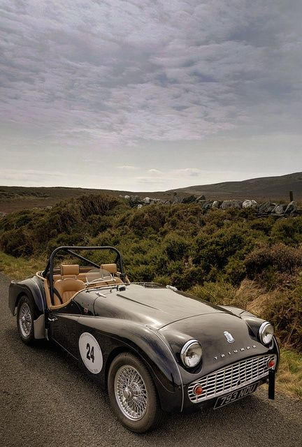 1958 Triumph #celebritys sport cars #luxury sports cars #ferrari vs lamborghini #customized cars #sport cars