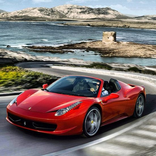 Ferrari 458 Italia shooting round the corners