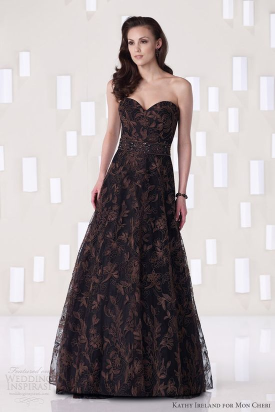 kathy ireland for mon cheri fall 2012 special occasion evening gown