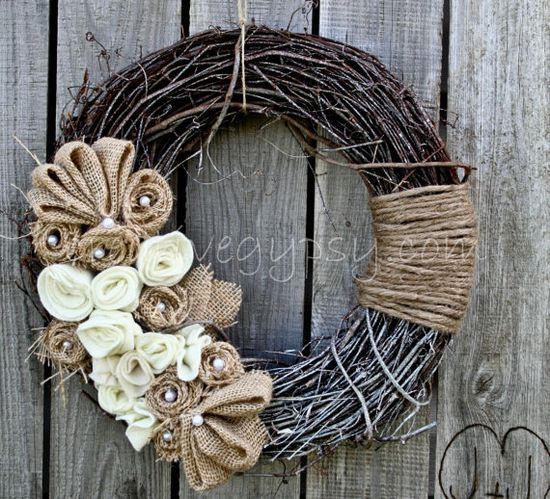 Rustic Romance Wreath