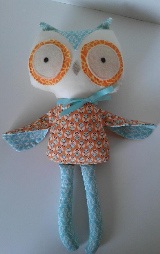 Owl Stuffed Doll Baby Toy Stuffed Animal by 1RumorHasIt on Etsy