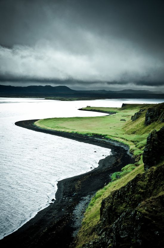 The black shores of Iceland