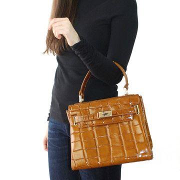 Leather Embossed Handbag.