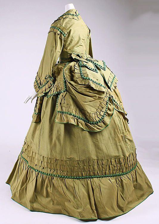 Dress  Date: 1868–70 Culture: American Medium: silk