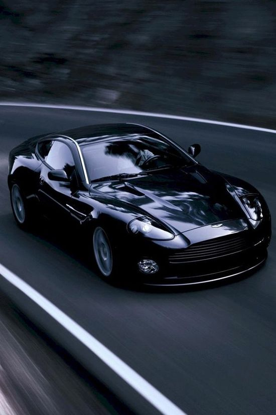 Black sports car. Sweet!