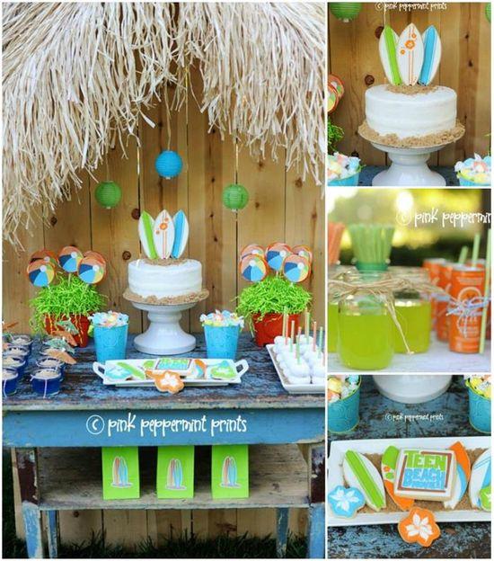 Disney Teen Beach Movie Party with Lots of CUTE Ideas via Kara's Party Ideas KarasPartyIdeas.com #Surf #Party #TeenBeachMovie #Ideas #Supplies #Disney