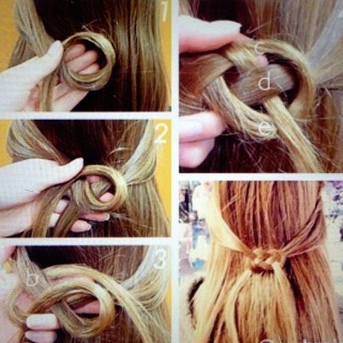hair knot tutorial