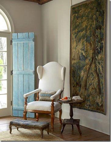 blue interior shutter