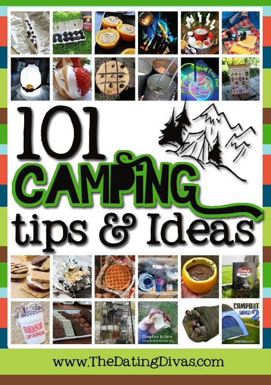 The ULTIMATE Camping Guide.  Just wait until you see the yummy recipes, clever organization, handy apps, fun activities, genius tips, and must-have gadgets. www.TheDatingDiva... #camping #campingrecipes #campingtips