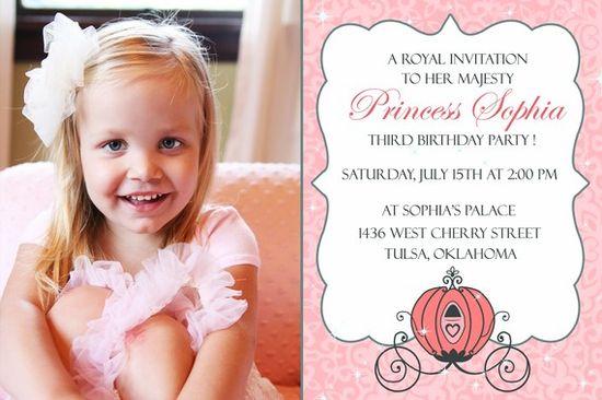 PRINTABLE - Royal Carriage - Princess Party Invitation - Digital
