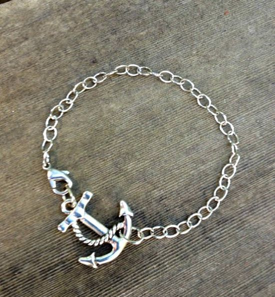 Sold & Relisted Anchors Away Dainty Bracelet by SassyLemonade on Etsy, $15.00