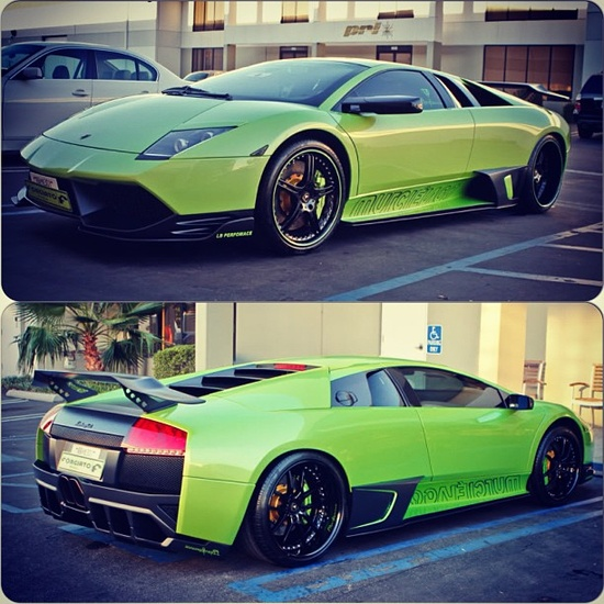 Bright Green Lamborghini Murcielago! You can always dream!