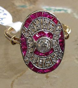 French art deco ruby