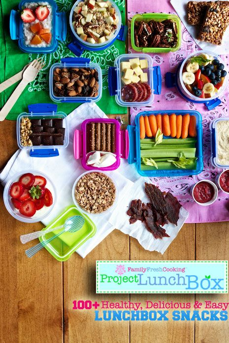 100 Lunchbox Snacks on familyfreshcooking: Healthy, delicious and easy! #School_Lunch #Snacks #Heathy #Easy