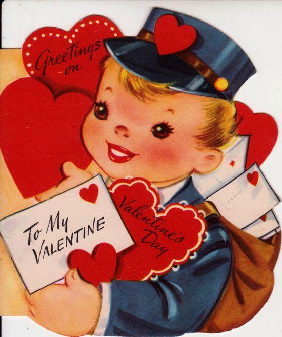 Vintage 1962 To My Valentine Little Boy by poshtottydesignz