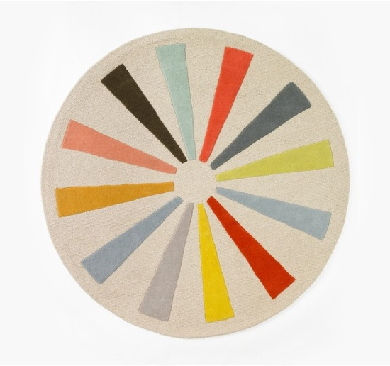 Pinwheel Round Rug