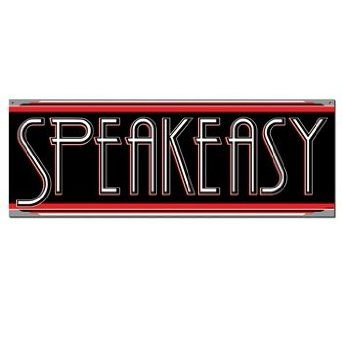 Speakeasy Sign Party Accessory (1 count) Beistle. $1.14