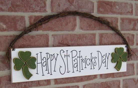 ST PATRICKS DAY Sign for wall door hanging and home by lisabees