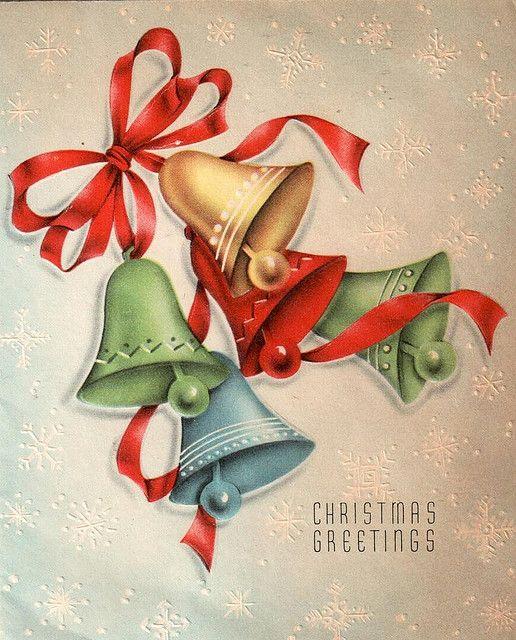 Christmas greetings! #vintage #Christmas #cards #bells